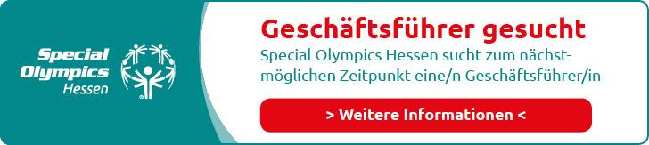 Geschäftsführer gesucht. Special Olympics Hessen sucht zum nächstmöglichen Zeitpunkt eine/n Geschäftsführer/in