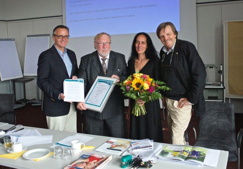 Die Ernennung (v.l. Clemens Traugott, Herbert Köller, Judith Melzer, Bernd Conrads)